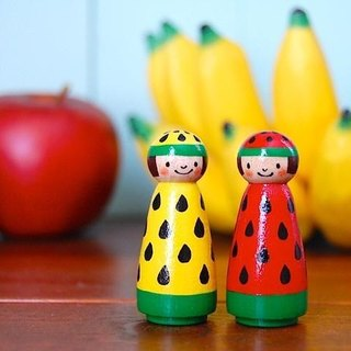 ◉ fruit Kokeshi ◉2 people of watermelon-chan [1]