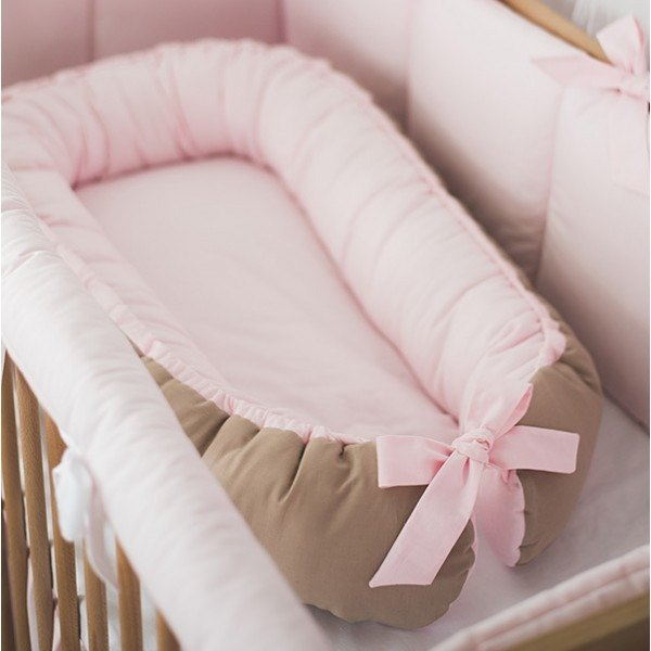 Pink baby sleep nest, baby lounger