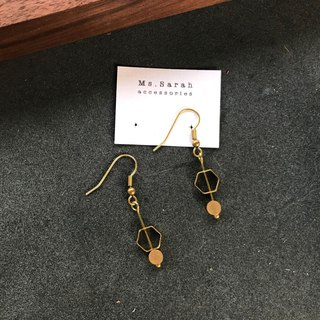 Brass earrings _ temperament classical (can be changed)