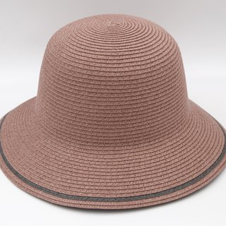 [Paper cloth home] two-color fisherman hat (grape purple) paper weave
