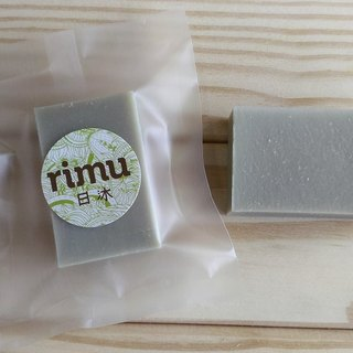 Travel small soap - repair green mud mud / travel / experience / sketch