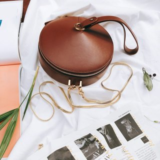 Large copper enamel | three-color mini copper simmered chain cross-body bag leather top layer leather