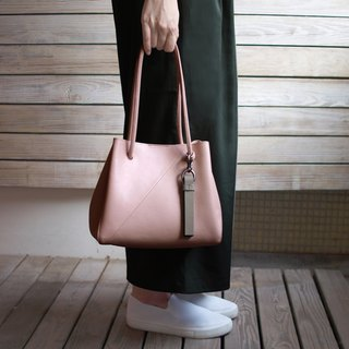 Goody Bag - Small Nude Pink tote Bag+Tassel Set