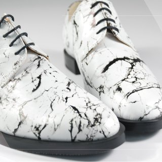 marble pattern oxford shoes