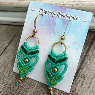 Misssheep-A55-National Wind South American Braided Brass Bead Earrings