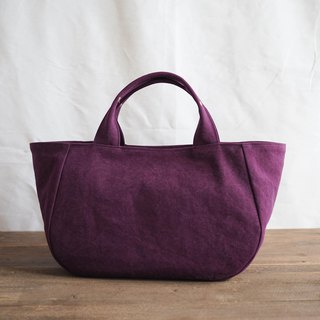 Round tote with lid M purple