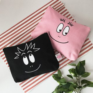 [Bubble Mr. BARBAPAPA] classic canvas versatile cosmetic bag · Genuine license