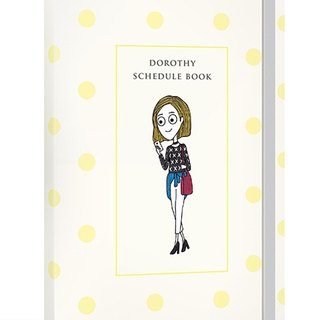 Dorothy non-aging Log PDA (including decorative stickers + character bookmark) - Yellow little (9AAAU0003)