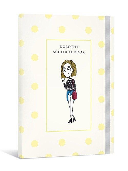 Dorothy無時效日誌手帳(含裝飾貼紙+人物書籤)-黃色點點(9AAAU0003)