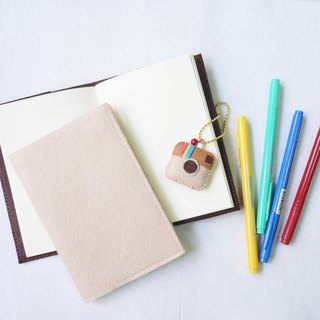 Plain felt cover A5/A6 refillable greenread notebook