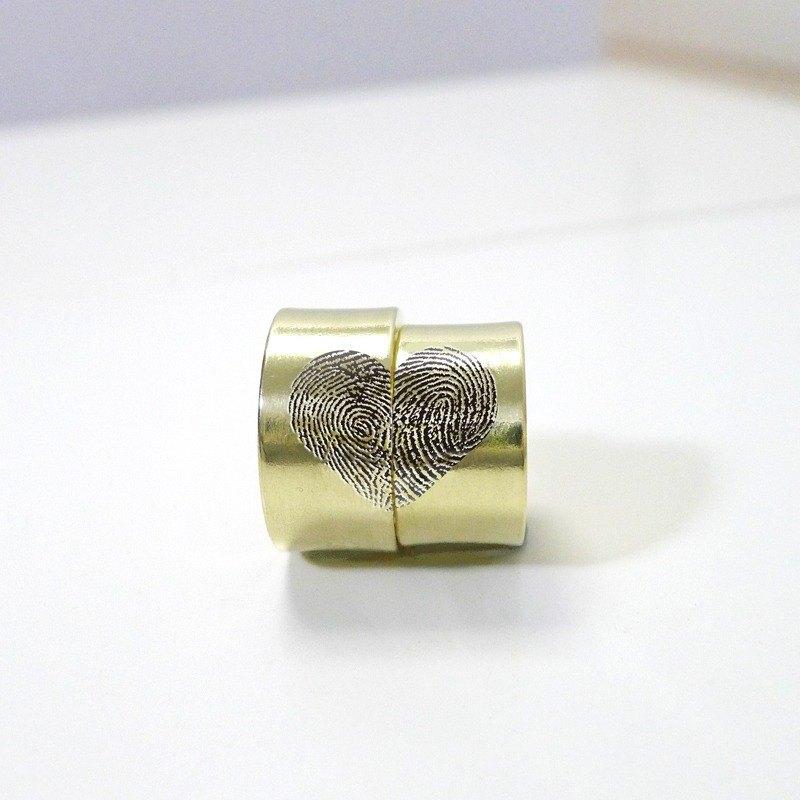 【對戒】極簡幸福指紋銅戒指