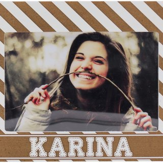 Customized carved wooden photo frame (4R photo) - Your name personalized theme x