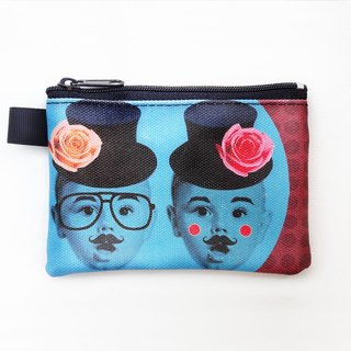 | I AM PARTY | Buka with hand painting purse - Peaceful Twin