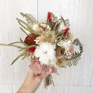 Forest style wedding bouquet / dry bouquet