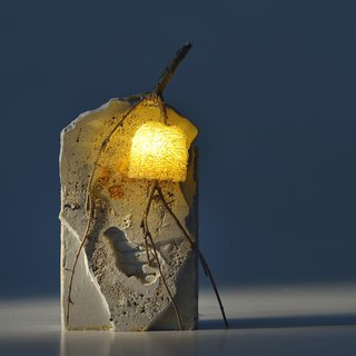 Old wall loofah lamp creation