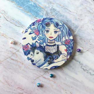 Girl and Schweizer absorbent coasters