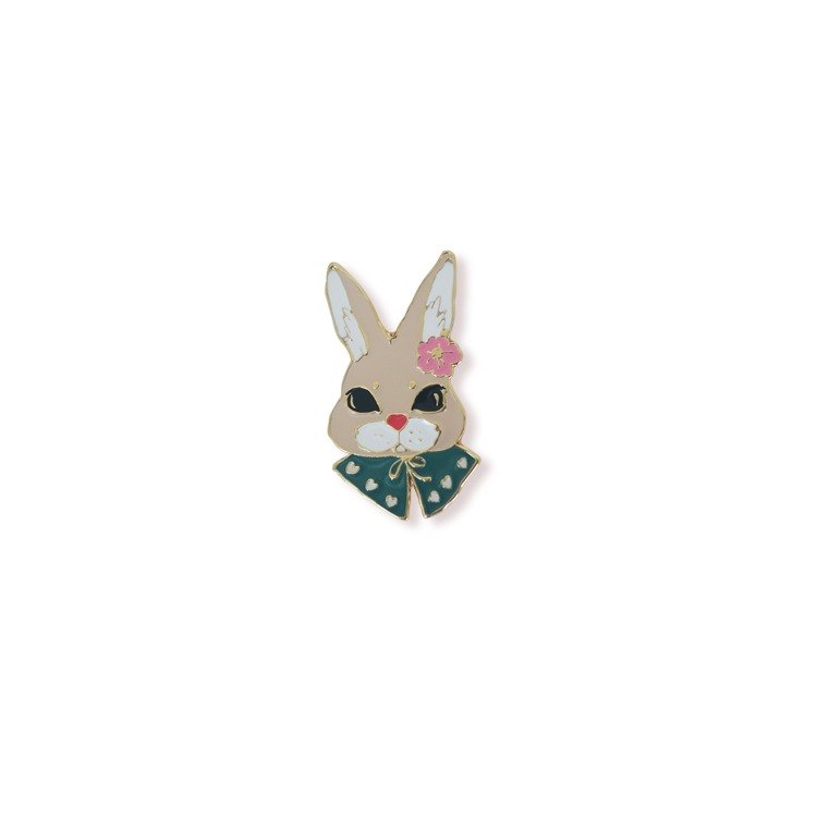 Tie rabbit rabbit brooch badge town series