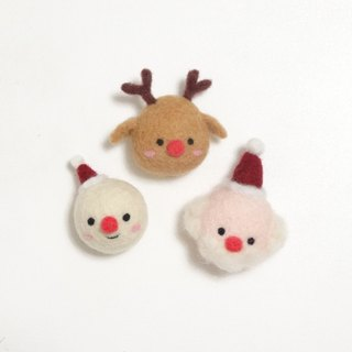 Merry Christmas - Wool felt  (key ring or Decoration or Safety pin)