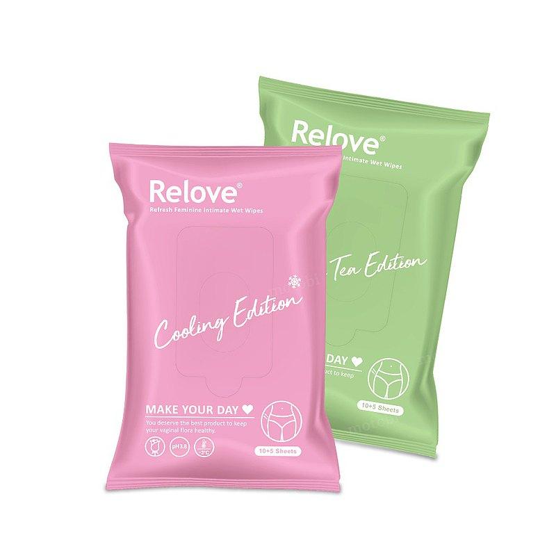 Relove 私密肌30秒面膜濕紙巾(15抽/包) 如廁後 生理期