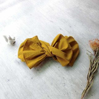 Shell Arts] giant butterfly hair band (Turmeric Gubu section) - the whole can be disassembled!