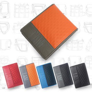Free shipping to buy one get one free I AM-leather short clip (orange) Send business card holder 1280 yuan (five colors optional)