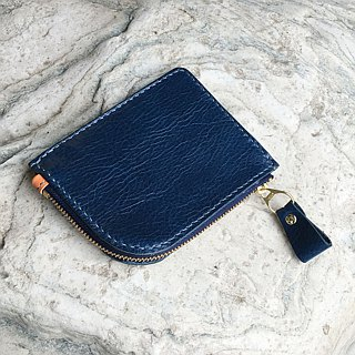 Small curved wallet purse British blue