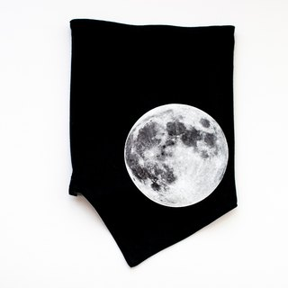[My little star] Super Moon hand-made double-sided organic cotton neck circumference (Designer Edition)