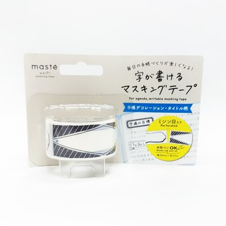 maste Let's Write! Masking Tape / Hand-drawn Monochrome (MST-FA10-F)