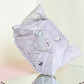 ORIBAGU origami bag _ silver mesh cat side / rear dual package