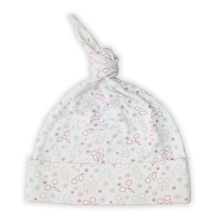 [Deux Filles Organic Cotton] Colorful Cherry Belted Baby Hat