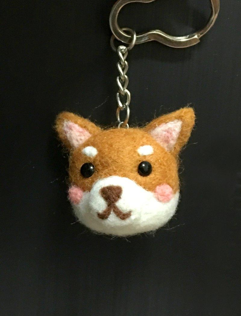 羊毛氈  柴犬 大頭 吊飾 鑰匙圈