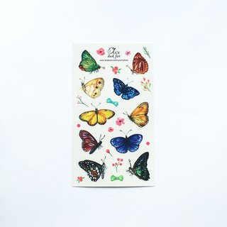Flowers and butterflies dancing sticker