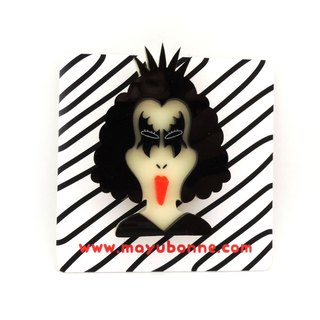 KISS Acrylic Brooch Pin