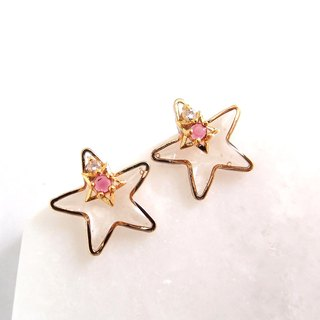 Magic Star - No pain U-shaped ear clip stainless steel ear pin silicone ear