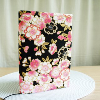 Lovely Japanese cloth [Pink cherry double-sided cloth book clothing 25K log A5 hand account] side can be fixed