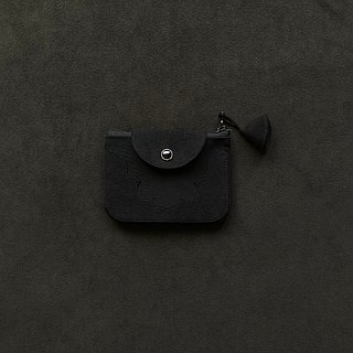 temple coin purse < black >