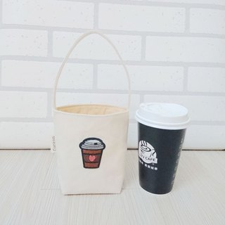 Environmental protection bag beverage coffee bag embroidery coffee love