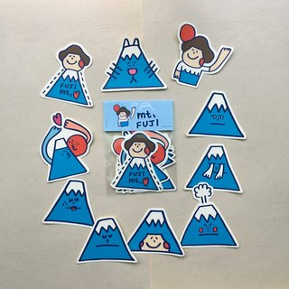 "Become Mount Fuji ""sticker group"""