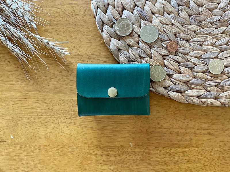 [Mini5] Double-sided multifunctional coin purse (green)