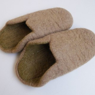 【Grooving the beats】Felt  Sippers / Felted Shoes / Wool Slippers / House Shoes / Indoor shoes(Light Brown)