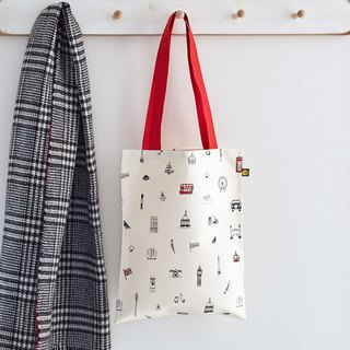 British egg canvas bag I love London