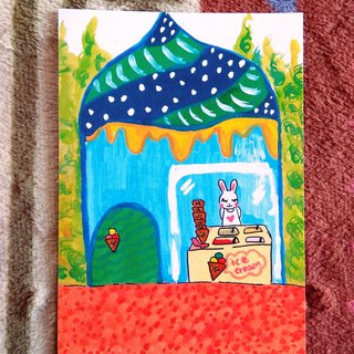 [Fantasy Shop Series] – Rabbit Ice Cream Shop _ Postcards _ Cards
