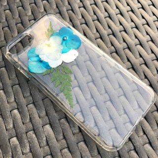 iPhone 7 Dry Pressed Flowers Case Blue Flower case 007