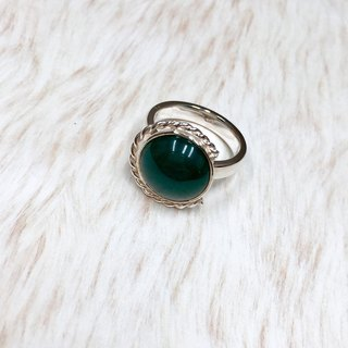 Green agate twist ring