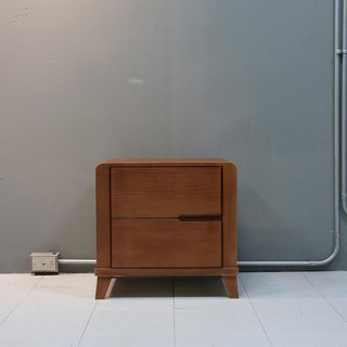 Pure handmade solid wood bed short cabinet / custom bedside cabinet