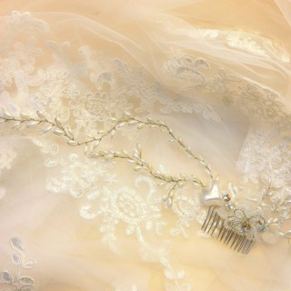 Wear a happy decoration Jiao Ruo Chunhua series - the bride comb. French comb. Buffet wedding - Yan Jiao