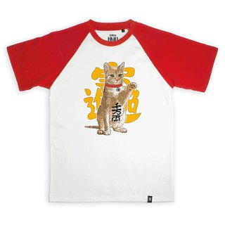 AMO®Original canned cotton T-shirt/AKE/Fortune Cat