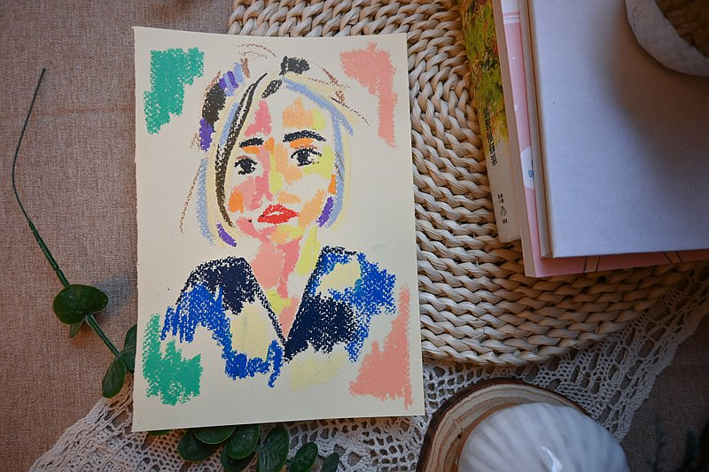 [Similar painting] Pastel portrait | half-length | frameless | gift | souvenir | customized