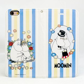 "Moomin Moomin genuine authority - Magnetic phone holster: [Romance (white)] ""iPhone / Samsung / HTC / ASUS / Sony"""