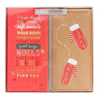 Elegant and simple style Christmas box card 2 models a total of 12 into [Hallmark-card Christmas series]
